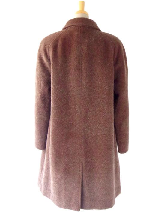 【送料無料】フランス買い付け ブラウン ウールとモヘア 夢心地な肌触りの ヴィンテージ コート : 13FC814【ヨーロッパ古着】