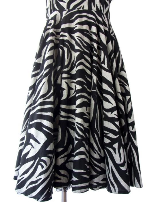 【送料無料】ロンドン買い付け 60年代製 上品グレイ X ブラック エレガントシルエット ヴィンテージ ドレス 15BS220【ヨーロッパ古着】