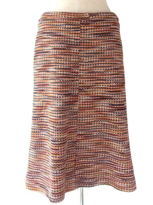 【ヨーロッパ古着】ロンドン買い付け オレンジを基調としたカラフルなミックスツイード スカート 16BS338【おとなかわいい】