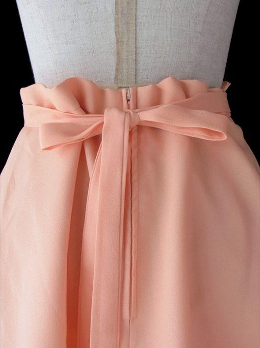 【ヨーロッパ古着】ロンドン買い付け 70年代製 爽やかな甘さのアプリコット ひらり可憐なヴィンテージ スカート 17BS141【美品】